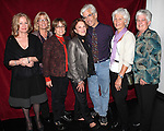 Linda Lavin with Director Steve Bakunas and Family at The Red Barn Studio Theatre Off-Broadway production of 'Positions' at the Roy Arias Studio Theatre on October 10, 2012 in New York City.