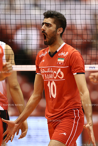 Amir Ghafour (IRI),<br /> MAY 29, 2016 - Volleyball :<br /> Men's Volleyball World Final Qualification for the Rio de Janeiro Olympics 2016<br /> match between Canada 2-3 Iran<br /> at Tokyo Metropolitan Gymnasium, Tokyo, Japan.<br /> (Photo by Shingo Ito/AFLO SPORT)