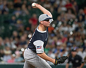 New York Yankees relief pitcher Zach Britton (53) works in the tenth inning against the Baltimore Orioles at Oriole Park at Camden Yards in Baltimore, MD on Friday, August 24, 2018.  The Yankees won the game 7 - 5 in ten innings.<br /> Credit: Ron Sachs / CNP<br /> <br /> (RESTRICTION: NO New York or New Jersey Newspapers or newspapers within a 75 mile radius of New York City)