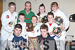 TAE KWON DO: Champions in tae kwan do in the Connaught final last weekend were front l-r: Shane Roche and James Stack. Middle l-r: PJ McGuire, Tommy Lynch and Jimmy O'Riordan. Back l-r: Paudie Morrissey, John Roche (instructor), Naomi O'Brien and Laura Collins.   Copyright Kerry's Eye 2008