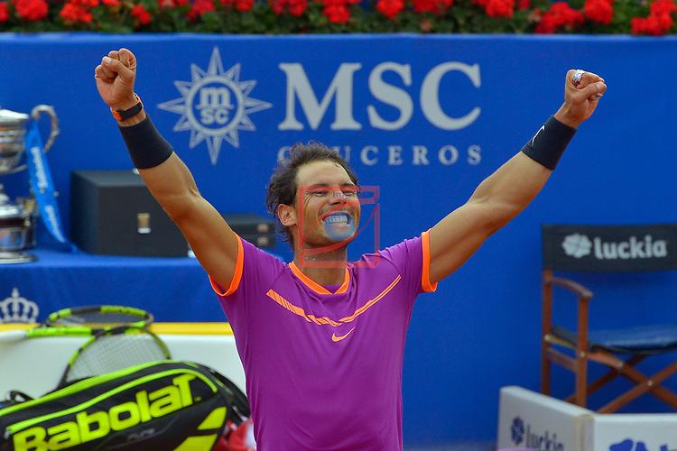 65e Trofeu Conde de Godo.<br /> Barcelona Open Banc Sabadell.<br /> Dominic Thiem (AUT) vs Rafa Nadal (ESP): 4-6, 1-6.