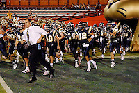 24 November 2007: Florida International, led by Coach Mario Cristobal, takes the field prior to the Florida Atlantic 55-23 victory over FIU at the Orange Bowl in Miami, Florida.