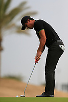 Ashun Wu (CHN) on the 1st green during the 2nd round of  the Saudi International powered by Softbank Investment Advisers, Royal Greens G&CC, King Abdullah Economic City,  Saudi Arabia. 31/01/2020<br /> Picture: Golffile | Fran Caffrey<br /> <br /> <br /> All photo usage must carry mandatory copyright credit (© Golffile | Fran Caffrey)