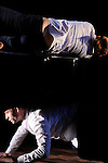 COLLISION H&Eacute;T&Eacute;ROG&Egrave;NE<br /> <br /> Chor&eacute;graphie : Amandine Bajou<br /> Musique : Marc Garcia Vitoria<br /> Danse : Quentin Baguet, Amandine Bajou<br /> Lieu : Biblioth&egrave;que Henry et Isabel Go&uuml;in<br /> Fondation Royaumont<br /> Le 20/09/2013<br /> &copy; Laurent Paillier / photosdedanse.com