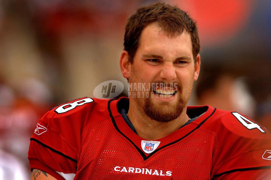 Nov. 6, 2005; Tempe, AZ, USA; Safety (48) Nathan Hodel of the Arizona Cardinals against the Seattle Seahawks at Sun Devil Stadium. Mandatory Credit: Mark J. Rebilas