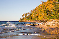 64745-00107 Miners Beach in fall at sunset Pictured Rocks National Lakeshore near Munising MI