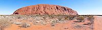 Uluru aka Ayer's Rock from NE, NT Outback, Australia