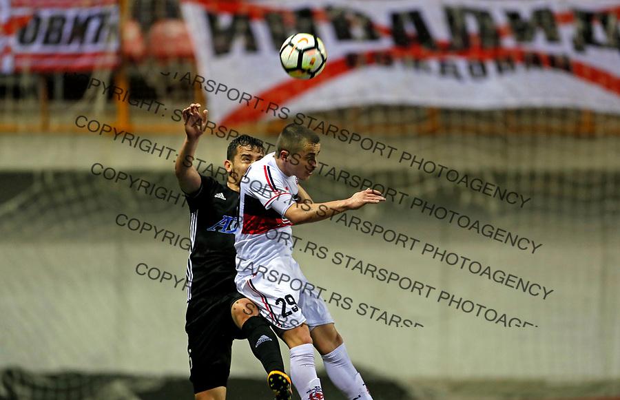 Borko Duronjic Vozdovac - Cukaricki super liga Srbije 5.4.1018. April 5. 2018. (credit image & photo: Pedja Milosavljevic / STARSPORT)