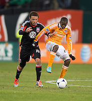 during the game at RFK Stadium in Washington,DC. D.C. United tied the Houston Dynamo, 1-1.  With the tie, Houston won the Eastern Conference and advanced to the MLS Cup.