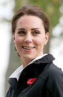 31 October 2017 - Princess Kate, Duchess of Cambridge laughs during a briefing on a visit at the Lawn Tennis Association (LTA) at the National Tennis Centre in southwest London. Duchess of Cambridge visited the LTA, the national governing body of tennis, where she was briefed on the organisations latest activities and objectives, and had the opportunity to watch a number of tennis demonstrations at the National Tennis Centre's on-court facilities. Photo Credit: ALPR/AdMedia