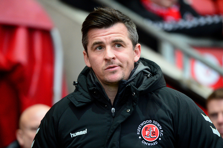 Fleetwood Town manager Joey Barton  looks on<br /> <br /> Photographer Richard Martin-Roberts/CameraSport<br /> <br /> The EFL Sky Bet League One - Saturday 15th December 2018 - Fleetwood Town v Burton Albion - Highbury Stadium - Fleetwood<br /> <br /> World Copyright © 2018 CameraSport. All rights reserved. 43 Linden Ave. Countesthorpe. Leicester. England. LE8 5PG - Tel: +44 (0) 116 277 4147 - admin@camerasport.com - www.camerasport.com