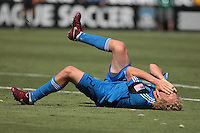 San Jose Earthquakes forward Steven Lenhart (24) after the play. The San Jose Earthquakes tied the Los Angeles Galaxy 0-0 at Buck Shaw Stadium in Santa Clara, California on June 25th, 2011.