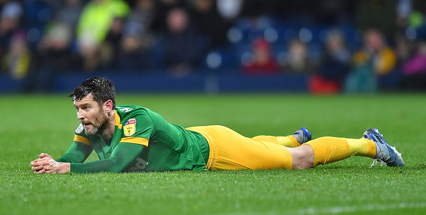 Preston North End's Ben Pearson <br /> <br /> Photographer Dave Howarth/CameraSport<br /> <br /> The EFL Sky Bet Championship - West Bromwich Albion v Preston North End - Tuesday 25th February 2020 - The Hawthorns - West Bromwich<br /> <br /> World Copyright © 2020 CameraSport. All rights reserved. 43 Linden Ave. Countesthorpe. Leicester. England. LE8 5PG - Tel: +44 (0) 116 277 4147 - admin@camerasport.com - www.camerasport.com