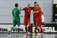 Poland players celebrate Maciej Mizgajski's (#6) goal which made it two one during England vs Poland, International Futsal Friendly at St George's Park on 2nd June 2018