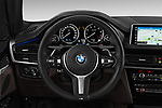 Car pictures of steering wheel view of a 2018 BMW X5 xDrive40e 4WD 5 Door SUV