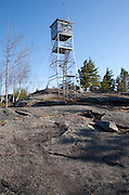 Pawtuckaway State Park - Mount Pawtuckaway Tower on the summit of Mount Pawtuckaway (South Mountain) in Nottingham, New Hampshire, USA.