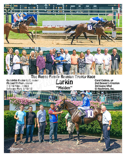 Larkin winning at Delaware Park on 8/19/17