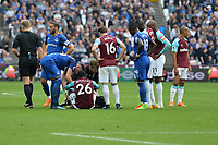 Arthur Masuaku of West Ham receives treatment during West Ham United vs Everton, Premier League Football at The London Stadium on 13th May 2018