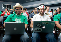Dave McClure and his Geeks on a Plane on part of his Latin American tour at the Centro school in Palmas, Mexico City.