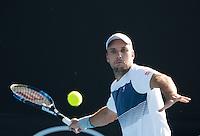 STEVE DARCIS (BEL)<br /> <br /> TENNIS , AUSTRALIAN OPEN,  MELBOURNE PARK, MELBOURNE, VICTORIA, AUSTRALIA, GRAND SLAM, HARD COURT, OUTDOOR, ITF, ATP, WTA<br /> <br /> &copy; TENNIS PHOTO NETWORK