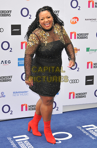 Marisha Wallace at the Nordoff Robbins O2 Silver Clef Awards 2019, JW Marriott Grosvenor House Hotel, Park Lane, London, England, UK, on Friday 05th July 2019.<br /> CAP/CAN<br /> ©CAN/Capital Pictures
