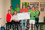 Presentation To MS: Membbers of the Finuge Freewheelers cycling club making a presentation of a cheque for €438.00 to the MS Tralee branch on Wednesday 10th June. Front : Anne Marie & Michael McCarthy, Ted Cronin  & Keuth McCArthy. Back : Mark Brifght, Johnny Joy, John Cronin & Paudie Stack.