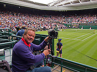 24-06-13, England, London,  AELTC, Wimbledon, Tennis, Wimbledon 2013, Day one, Henk Koster (NED)<br /> <br /> <br /> <br /> Photo: Henk Koster