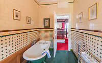 BNPS.co.uk (01202 558833)<br /> Pic: BellIngram/BNPS<br /> <br /> One of the 16 ensuite bedrooms.<br /> <br /> A magnificient Scottish castle which comes with its own two islands is on the market for £3.75million.<br /> <br /> Glenborrodale Castle is situated on the southern shore of the picturesque Ardnamurchan Peninsula in the remote Highlands. <br /> <br /> The baronial mansion dates from 1902 and is built from distinctive red Dumfriesshire sandstone.<br /> <br /> It boasts 133 acres of land taking in the idyllic uninhabited isles of Risga and Eileam an Feidh.<br /> <br /> The larger of the two, Risga, spans 30 acres and is in the centre of Loch Sunart, 800 yards from the north shore