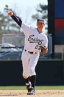 Casey Stevenson of the University of California at Irvine in the field during a game against James Madison University at the Baseball at the Beach Tournament held at BB&T Coastal Field in Myrtle Beach, SC on February 28, 2010.