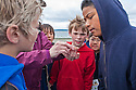 The Seattle Aquarium's Beach Naturalists help 4th and 5th graders from Lafayette ES to discover the rarely exposed creatures of low tide along one of Alki's beaches.