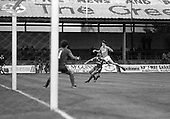 03/09/1980 Blackpool v Everton  League Cup 2nd Round 2nd Leg .Bobby Doyle has a shot blocked....© Phill Heywood.