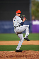 Detroit Tigers pitcher Joe Mantiply (17) delivers a pitch during a Spring Training game against the New York Yankees on March 2, 2016 at George M. Steinbrenner Field in Tampa, Florida.  New York defeated Detroit 10-9.  (Mike Janes/Four Seam Images)