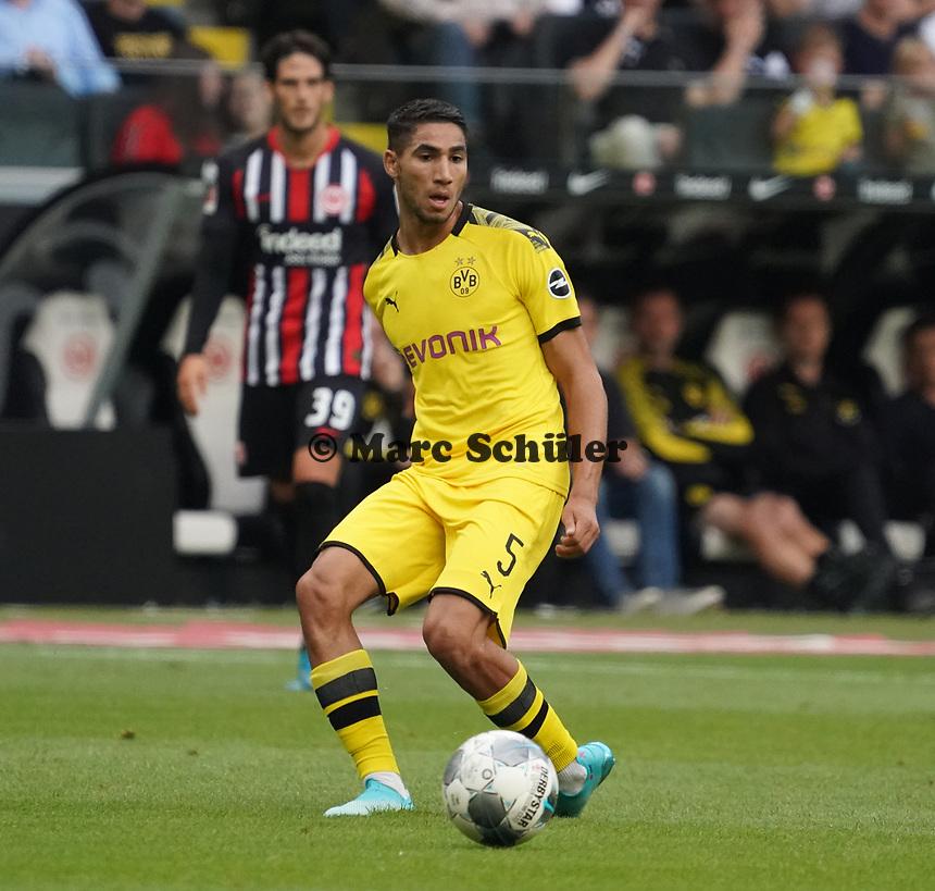 Achraf Hakimi (Borussia Dortmund) - 22.09.2019: Eintracht Frankfurt vs. Borussia Dortmund, Commerzbank Arena, 5. Spieltag<br /> DISCLAIMER: DFL regulations prohibit any use of photographs as image sequences and/or quasi-video.