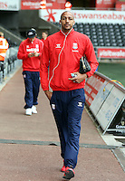 SWANSEA, WALES - MAY 02: Stoke City players arrive prior to the Premier League match between Swansea City and Stoke City at The Liberty Stadium on May 02, 2015 in Swansea, Wales. (photo by Athena Pictures/Getty Images)