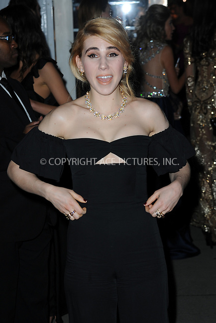www.acepixs.com<br /> February 8, 2017  New York City<br /> <br /> Zosia Mamet attending the amfAR New York Gala 2017 at Cipriani Wall Street on February 8, 2017 in New York City.<br /> <br /> Credit: Kristin Callahan/ACE Pictures<br /> <br /> Tel: 646 769 0430<br /> Email: info@acepixs.com