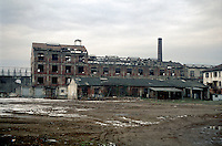 "Milano, quartiere bovisa, periferia nord. Vecchia fabbrica di saponi ""Sirio"" in disuso (ora demolita) --- Milan, bovisa district, north periphery. Old disused soap factory ""Sirio"" (now demolished)"