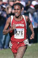 20 November 2006: Neftalem Araia during the 2007 NCAA men's cross country championships in Terre Haute, IN.