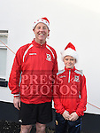 Andrew Purcell and Kyle Meegan who took part in the Termonfeckin Celtic FC Santa run. Photo:Colin Bell/pressphotos.ie