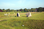 Standing stones of the henge at Avebury, Wiltshire, England