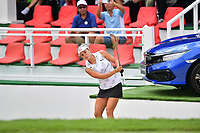 PATTAYA, THAILAND - FEBRUARY 22: Lexi Thompson of USA pitching onto the 18th green during the second round of the Honda LPGA Thailand 2019 at Siam Country Club Pattaya (Old Course), Pattaya, Thailand on February 22, 2019.<br /> .<br /> .<br /> .<br /> (Photo by: Naratip Golf Srisupab/SEALs Sports Images)<br /> .<br /> Any image use must include a mandatory credit line adjacent to the content which should read: Naratip Golf Srisupab/SEALs Sports Images