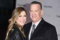 Tom Hanks &amp; Rita Wlson at the European premiere of &quot;The Post&quot; at the Odeon Leicester Square, London, UK. <br /> 10 January  2018<br /> Picture: Steve Vas/Featureflash/SilverHub 0208 004 5359 sales@silverhubmedia.com