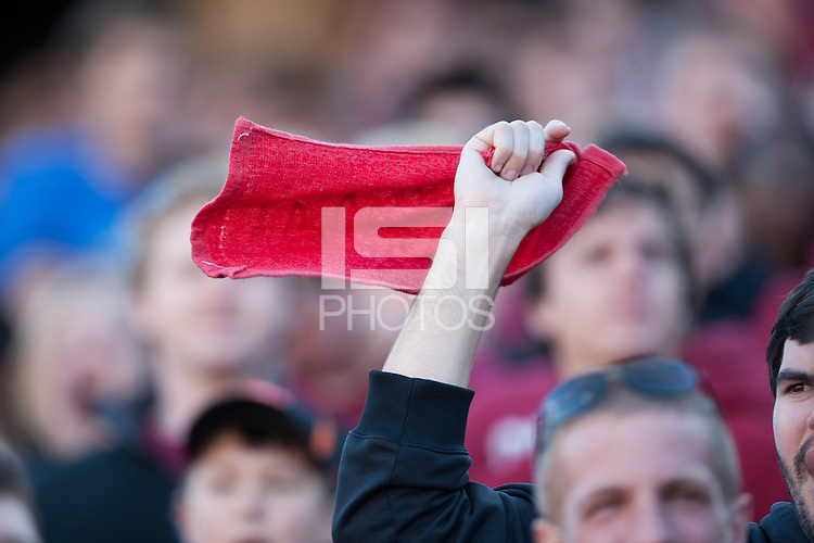 STANFORD, CA -- November 10, 2012: Fans during the Stanford vs. Oregon State football game Saturday afternoon at Stanford Stadium.<br /> <br /> Stanford won 27-23.