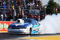 Sep 27, 2013; Madison, IL, USA; NHRA pro stock driver Matt Hartford during qualifying for the Midwest Nationals at Gateway Motorsports Park. Mandatory Credit: Mark J. Rebilas-