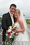 Claire, daughter of Mairéad and Michael Sugrue, Ballybunion, and Stephen Barker, Tourmakeady, Co. Mayo, who were married on Saturday in St. John's Church, Ballybunion, by Fr Martin Hegarty. Best man was Ronan Foley and groomsmen were Neil Hughes, Marc Asher, Gary Nagle, Lee Sugrue and Allan Smillie. Bridesmaids were Kelly Sugrue, Stacey Sugrue, Kim Sugrue, Tara Noonan and Mary Jane McMahon. Pageboy was Ethan Slaney. The reception was held at Kirby's Lanterns Hotel, Tarbert.