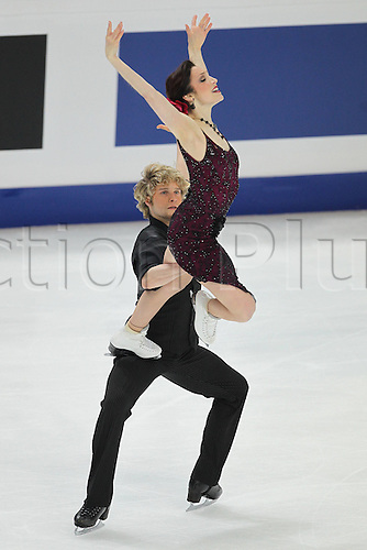 30.04.2011. Moscow, Russia.   Meryl Davis and Charlie White USA during Free Dance of The Figure Skating World Championships 2011 in MOSCOW   Eistanzen World Cup Moscow