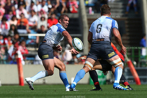 Matt Hodgson (Force),<br /> MAY 7, 2016 - Rugby :<br /> Super Rugby match between <br /> Sunwolves - Western Force<br /> at Prince Chichibu Memorial Stadium in Tokyo, Japan. <br /> (Photo by Shingo Ito/AFLO SPORT)