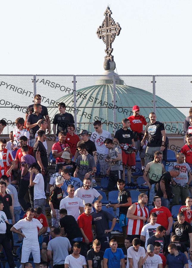 Fudbal Super liga season 2012-2013.Partizan v Crvena Zvezda .Delije navijaci  fans supporters.Beograd, 05.18.2013..foto: Srdjan Stevanovic/Starsportphoto ©