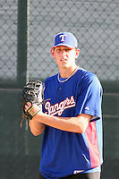 Nick Tepesch - 2010 AZL Rangers .Photo by:  Bill Mitchell/Four Seam Images..