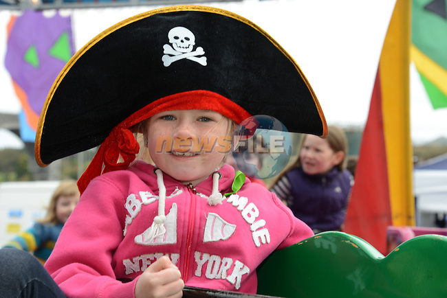 Aoife Leonard enjoys the fun down at the harbour for the Maritime and Fringe Festival.