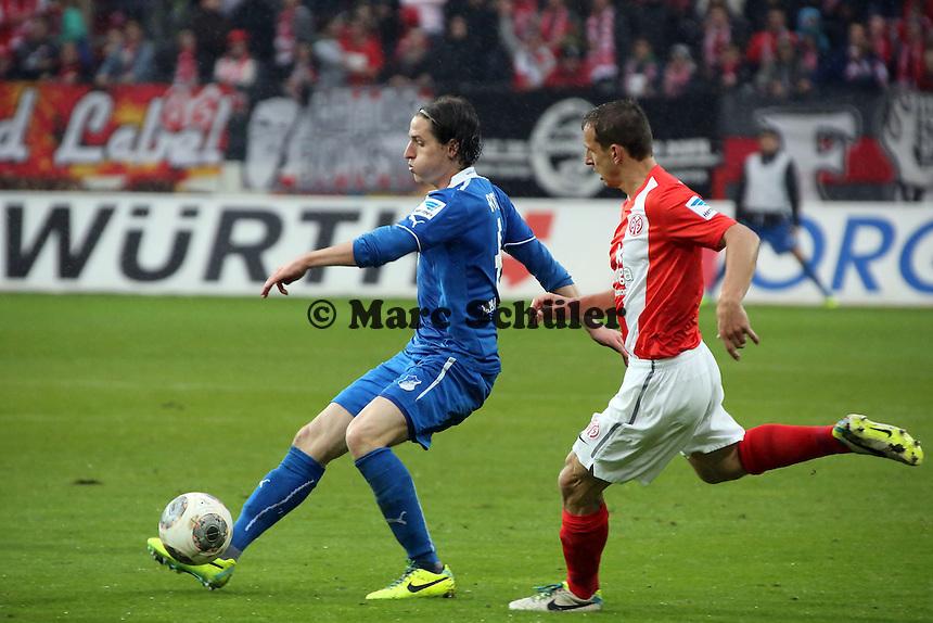 Sebastian Rudy (Hoffenheim) gegen Zdenek Pospech (Mainz) - 1. FSV Mainz 05 vs. TSG 1899 Hoffenheim, Coface Arena, 8. Spieltag